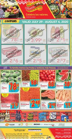 Catalogue Fiesta Foods SuperMarkets from 07/29/2020