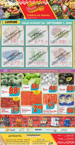 Catalogue Fiesta Foods SuperMarkets from 08/26/2020