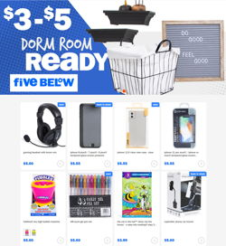 Catalogue Five Below from 07/22/2020