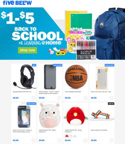 Catalogue Five Below from 07/29/2020