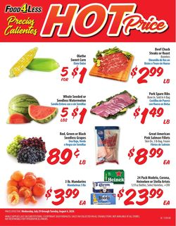 Catalogue Food 4 Less from 07/29/2020