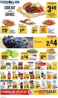 Catalogue Food Lion from 07/22/2020