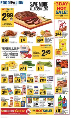 Catalogue Food Lion from 09/16/2020