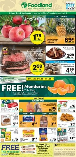 Catalogue Foodland from 03/18/2020