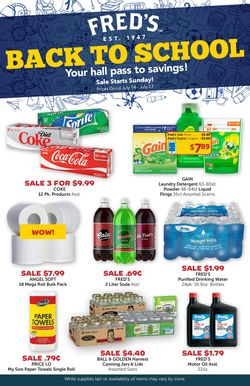 Current weekly ad fred's