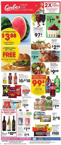 Catalogue Gerbes Super Markets from 07/29/2020