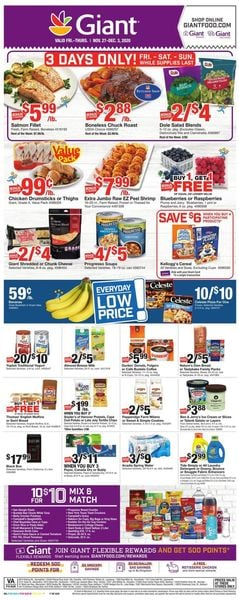 Current weekly ad Giant Food