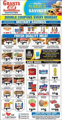 Catalogue Grant's Supermarket from 07/29/2020