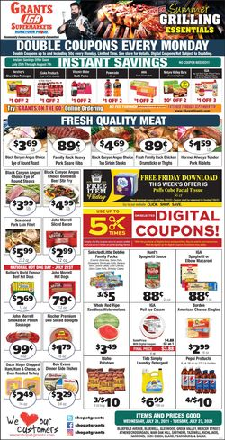 Current weekly ad Grant's Supermarket