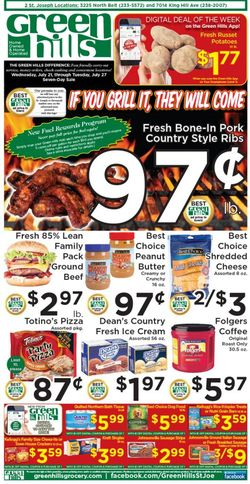 Current weekly ad Green Hills Grocery