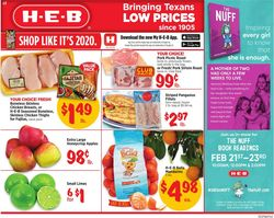 Catalogue H-E-B from 02/19/2020