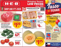 Catalogue H-E-B from 02/26/2020