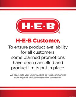 Catalogue H-E-B from 03/18/2020