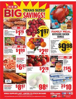 Catalogue H-E-B from 04/22/2020