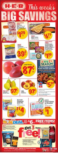 Catalogue H-E-B from 07/22/2020