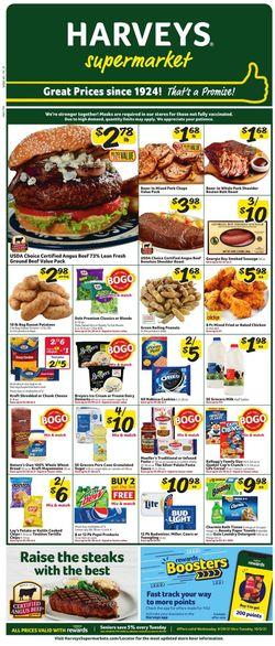 Current weekly ad Harveys Supermarket