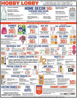 Catalogue Hobby Lobby from 06/21/2020