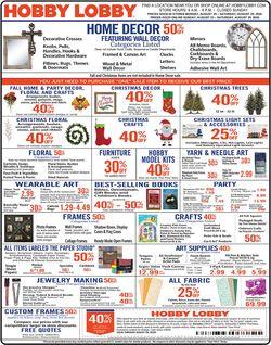 Catalogue Hobby Lobby from 08/24/2020