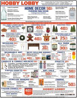 Catalogue Hobby Lobby from 08/31/2020