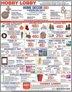 Catalogue Hobby Lobby from 09/07/2020