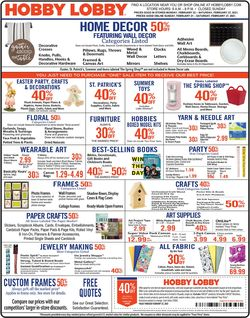 Current weekly ad Hobby Lobby