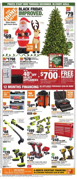 Catalogue Home Depot Black Friday 2020 from 11/08/2020