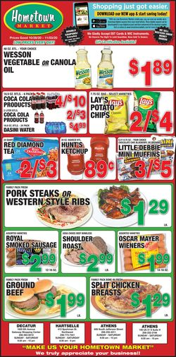 Current weekly ad Hometown Market