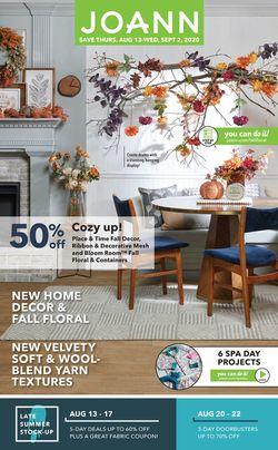 Catalogue Jo-Ann from 08/13/2020