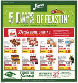 Catalogue Lowes Foods Black Friday 2020 from 11/27/2020