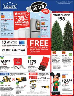 Catalogue Lowe's from 10/31/2019