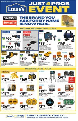 Catalogue Lowe's from 07/09/2020