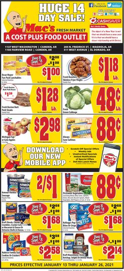 Current weekly ad Mac's Freshmarket