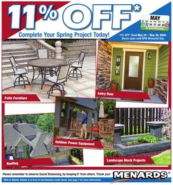 Catalogue Menards from 05/24/2020