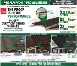 Catalogue Menards from 08/09/2020
