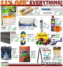 Catalogue Menards from 09/13/2020
