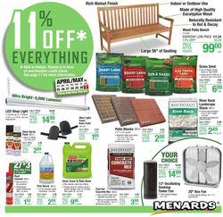 Catalogue Menards from 04/25/2021