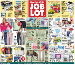 Catalogue Ocean State Job Lot from 09/03/2020