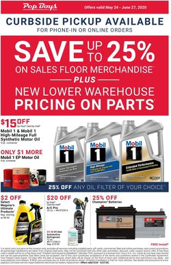Catalogue Pep Boys from 05/24/2020