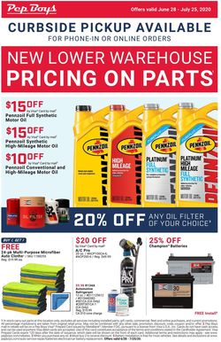 Catalogue Pep Boys from 06/28/2020