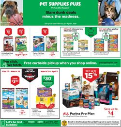 Catalogue Pet Supplies Plus from 02/27/2020