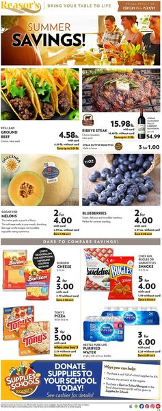 Current weekly ad Reasor's