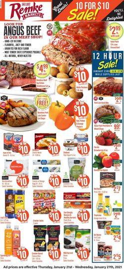 Current weekly ad Remke Markets