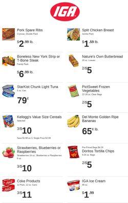 Current weekly ad Rowe's IGA Supermarkets