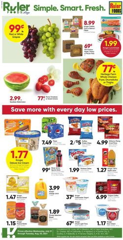 Current weekly ad Ruler Foods