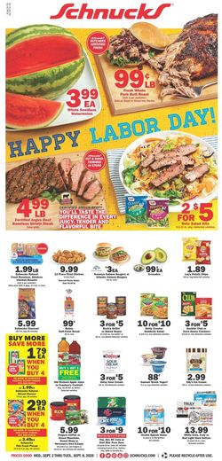 Catalogue Schnucks from 09/02/2020