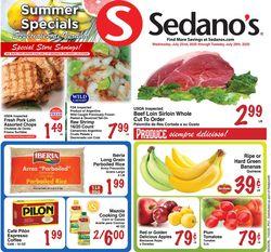 Catalogue Sedano's from 07/22/2020