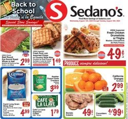 Catalogue Sedano's from 08/12/2020