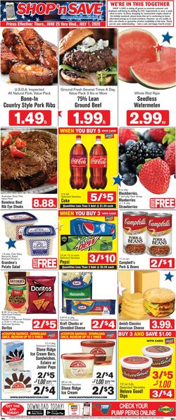 Catalogue Shop 'n Save (Pittsburgh) from 06/25/2020