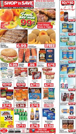 Catalogue Shop 'n Save from 08/20/2020