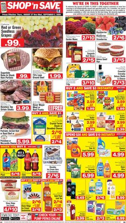 Catalogue Shop 'n Save from 08/27/2020